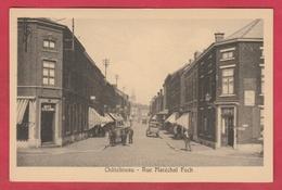 Châtelineau - Rue Maréchal Foch ... Attelage , Oldtimer , Belle Animation ( Voir Verso ) - Châtelet