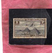 EGYPT EGITTO 1933 1938 AIR MAIL POSTA AEREA AIRPLANE OVER GIZA PYRAMIDS 3m USATO USED OBLITERE' - Poste Aérienne