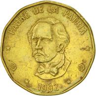 Dominican Republic, Peso, 1992, TTB+, Laiton, KM:80.1 - Dominicaine