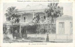 A-17-8743 :  BANQUE DE LA GUADELOUPE. PUBLICITE RHUM CHAUVET - Guadeloupe