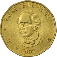 Dominican Republic, Peso, 2002, TTB+, Laiton, KM:80.2 - Dominicaine
