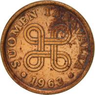 Finlande, 5 Pennia, 1963, TTB, Cuivre, KM:45 - Finlande