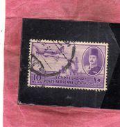 EGYPT EGITTO 1947 AIR MAIL POSTA AEREA KING FAROUK DELTA DAM DC-3 PLANE 10m USATO USED OBLITERE' - Posta Aerea