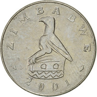 Zimbabwe, 20 Cents, 2001, Harare, TTB+, Nickel Plated Steel, KM:4a - Zimbabwe