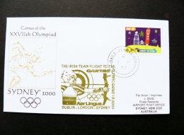 Cover Eire Ireland Special Cancel 2000 Sport Olympic Games Sydney Archery - 1949-... Repubblica D'Irlanda
