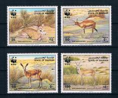 Bahrain 1993 Tiere Mi.Nr. 511/14 Kpl. Satz ** - Bahreïn (1965-...)