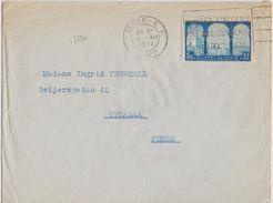 17790# ALGERIE N° 85 SEUL LETTRE Obl ALGER RP 1934 Pour UPPSALA SUEDE SVERIGE SWEDEN - Lettres & Documents