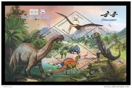 North Korea 2010 Mih. 5602/04 (Bl.770I) Prehistoric Fauna. Dinosaurs (overprint Stockholm 2010) MNH ** - Corea Del Norte