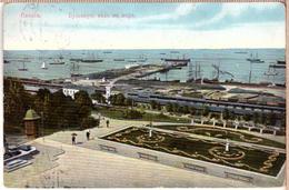 Russian Imperial City View Ukraine Russia Odessa Одеса PANORAMIC VIEW. PC 1913 - Russia