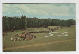RUANDA-URUNDI / LE ROI BELGE ARRIVE EN HELICOPTERE à KITEGA à L'été 1955 - Rwanda