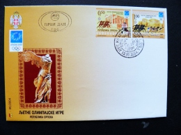 Cover Serbia 2004 Sport Olympic Games Athens Special Cancel Fdc - Serbia
