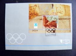 Cover Bosnia I Hercegovina 2004 Sport Olympic Games Athens Special Cancel Fdc Sarajevo Horses M/s - Bosnia Erzegovina