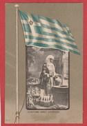 CPA: Grèce - Athénes - Costume Grec - Femme - Drapeau - Greece