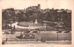 51 REIMS VUE GENERALE PRISE DE LA GARE CIRCULEE 1933 - Reims