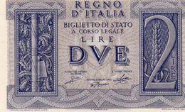ITALIA-BANCONOTA REGNO-2 LIRE -1939 P-27-UNC - [ 1] …-1946 : Kingdom