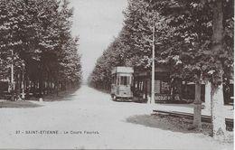 42 ST ETIENNE COURS FAURIEL TRAMWAY CHOCOLA MENIER   37 - Saint Etienne