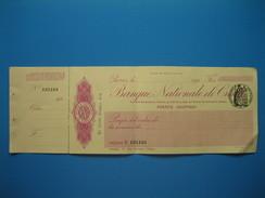 (Années 20) Chèque De La BANQUE NATIONALE De CRÉDIT (nom De L'émetteur : Henri Chabal) - Chèques & Chèques De Voyage