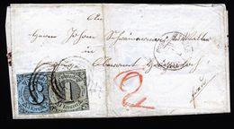 A4800) AD Thurn & Taxis Brief Sigmaringen 1859 Mit Mi.7, 8 - Thurn Und Taxis