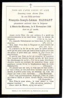 FAIRE-PART Du Décès De Monsieur JFrançois-Joseph-Léonce Marrast Le 3 Novembre 1893 - Obituary Notices