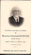 FAIRE-PART Du Décès De Monsieur Sincère Courtois Le 10 Février 1945 - Obituary Notices