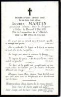 FAIRE-PART Du Décès De Madame Louise Martin Le 8 Mai 1889 - Overlijden