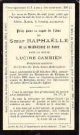 FAIRE-PART Du Décès De Soeur Raphaëlle Le 9 Juillet 1900 - Obituary Notices
