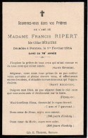 FAIRE-PART Du Décès De Madame Francis Ripert Le 1er Février 1914 - Overlijden