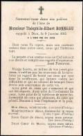 FAIRE-PART Du Décès De Monsieur Théophile-Albert Bonneau Le 9 Février 1915 - Overlijden