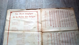 Partition Adieu Petite Reine Astrid Reine Des Belges Belgique Chanson Rousseaux Rare - Partitions Musicales Anciennes