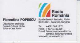 Romania Visiting Card, Carte De Visite, Visitenkarte - Visiting Cards