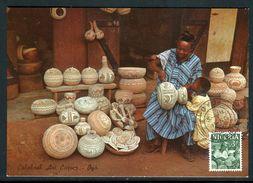 Nigeria - Carte Maximum 1965 - Graveur De Calebasse - Nigeria (1961-...)