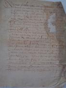 JACQUES GARATE.MICHEL GRILLOT.AUBRY.parchemin :31 X 26 Cm.4 Pages.sali. - Documents Historiques