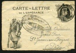 """Carte-Lettre De Franchise Militaire De  1914-18 ."""" Poilu + Maréchal JOFFRE - Marcophilie (Lettres)"""