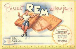REM - Biscuits De Reims - Lot De 5 Buvards Et 1 Protège Cahier - VR_C1_10 - Alimentaire