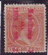 1898.PUERTO RICO 165 NUEVO CON CHARNELA. SOBRECARGAVERTICAL. MUY RARO. SCOTT 168 - Puerto Rico