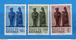 (MN1) KATANGA **- 1961 -  YVERT. 54-55-56 .  MNH.   Vedi Desrizione - Katanga