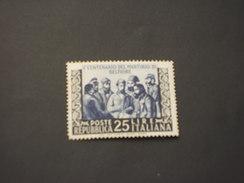 ITALIA REPUBBLICA - 1952 QUADRO BELFIORE - NUOVO(++) - 1946-60: Mint/hinged
