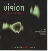 Wien Vienna Thomastik Violin Strings Envelope Label Empty - Accessories & Sleeves