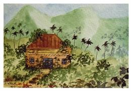 CPM Ile De La Réunion - Case Créole - Aquarelle De Meautis - Réunion