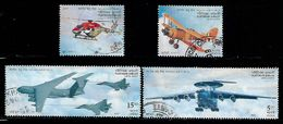 India 2007 Platinum Jubilee Of Indian Air Force Helicopter Airplane Aviation Used Stamp # A:134 - Used Stamps