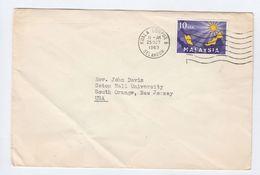 1963 MALAYSIA Stamps COVER To USA Malaya - Malaysia (1964-...)