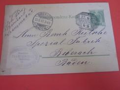 1907 Franzenblad Österreich 1850-1918 Imperium-Briefmarken Europa Ganzsachen-Autriche Entier Postaux-Biberach Baden - Stamped Stationery