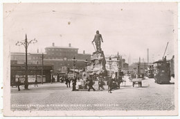 Exchange Station & Cromwell Monument, Manchester, 1907 Postcard - Manchester