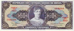 BRAZIL 5 CENTAVOS REFORM BANKNOTE 1966-67 AD PICK NO.184 UNCIRCULATED UNC - Brazil