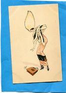 """Femme-élégante Illustrée""""PLUM""""-superbe Chapeau Et étole De Fourrure Années 1910-20 - Women"""