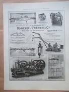 1922 - TREUIL à Vapeur  BONEHILL à Raismes - Page Originale MACHINE Industrielle - Tools
