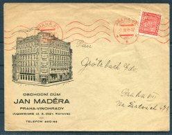 1935 Prague Illustrated Advertising Jan Madera Shop Praha Cover - Czechoslovakia