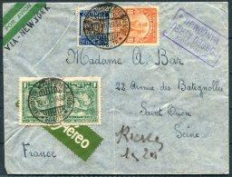 1936 Colombia Bogota Airmail Cover - Saint Ouen, Seine, France Via New York. Moncomun - Colombia