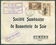 1938 Algeria C.R.G. Oran Airmail Cover - Societe Sumenoise De Bonneterie De Soie, Sumene France - Algeria (1924-1962)