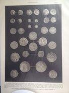 4 Planches Des Monnaies Gauloises Et Mérovingiennes J'usqu'au Franc D'Henri IV à Nos Jours - Francés